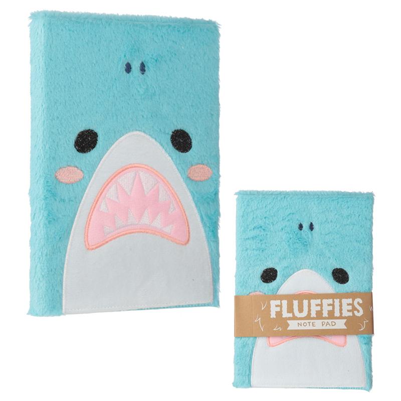 Fluffy Plush Notebook Shark Design