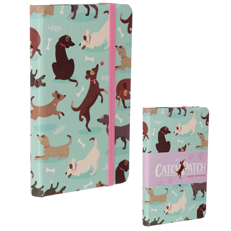 Collectable Hardback Notebook Catch Patch Dog Design