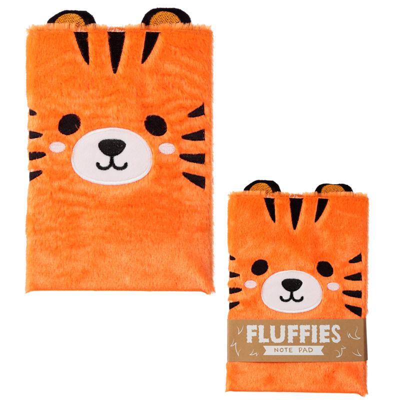 Fluffy Plush Notebook Cute Tiger Design