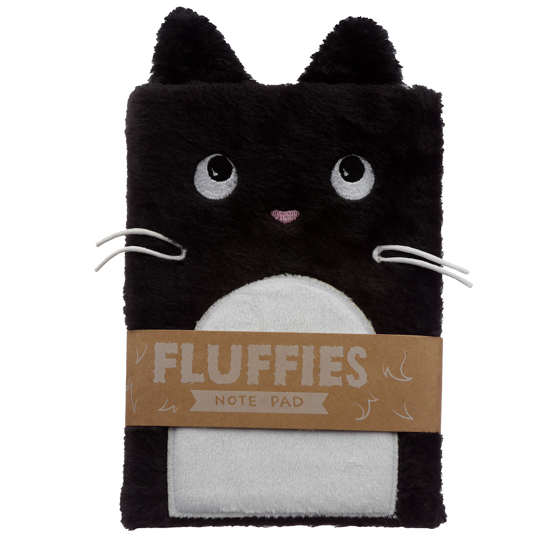 Fluffy Plush Notebook Feline Fine Cat