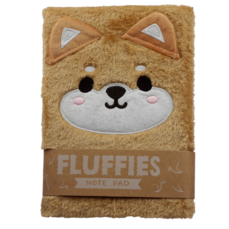 Fluffy Plush Notebook Cutiemals Shiba Inu Dog