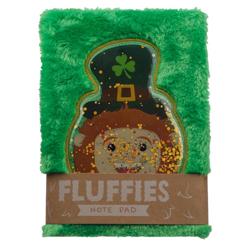 Fluffy Plush Notebook Lucky Leprechaun