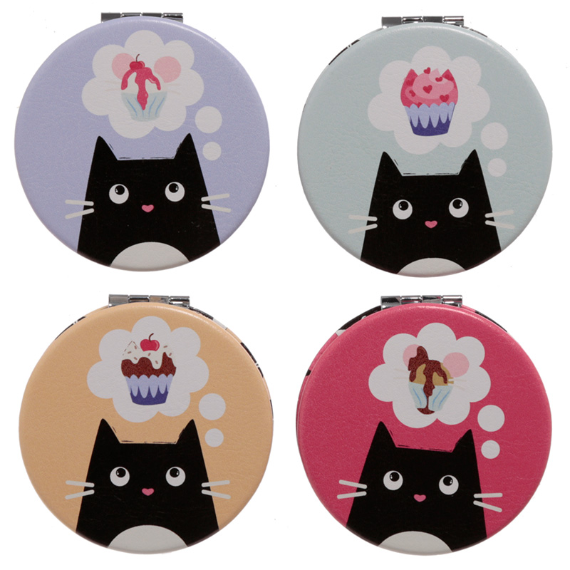 Fun Collectable Feline Fine Cat Compact Mirror