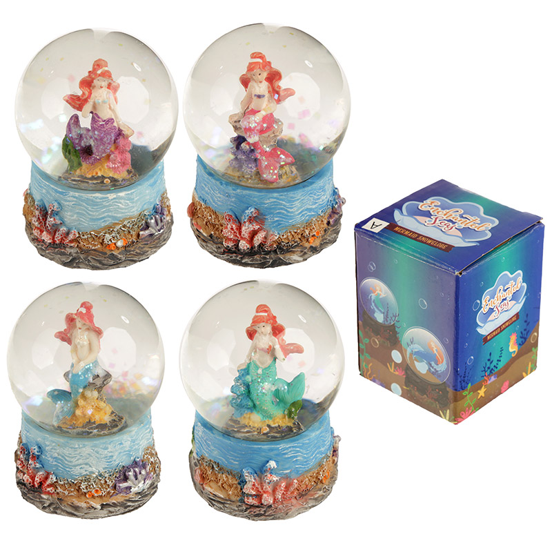Fun Collectable Mini Mermaid Snow Globe