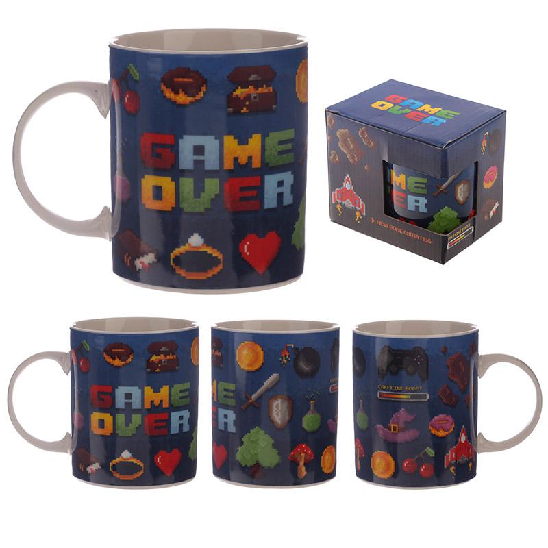 Collectable Porcelain Mug Game Over Design
