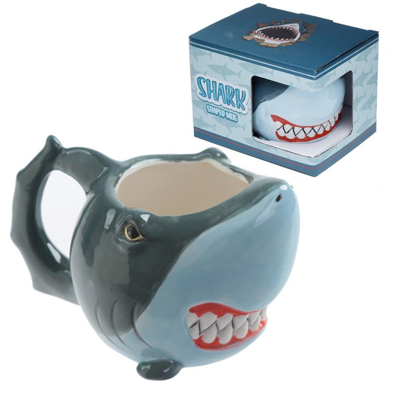Ceramic Shark Shaped Collectable Mug