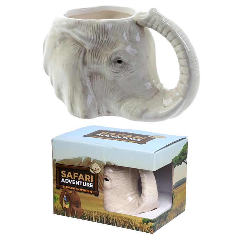 Ceramic Elephant Shaped Collectable Mug