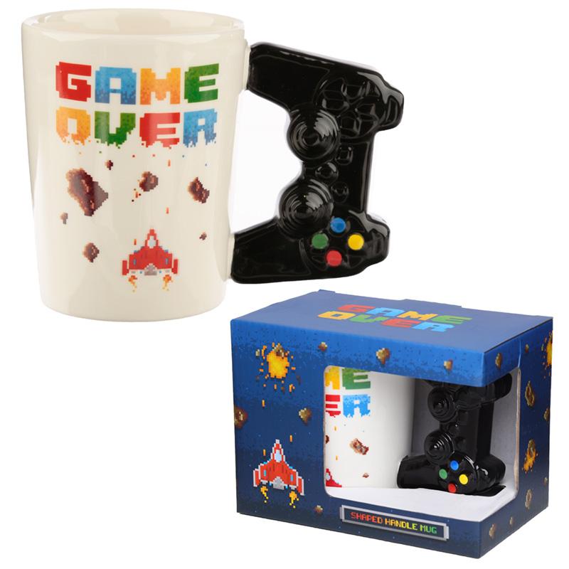 Ceramic Game Over Shaped Handle Mug