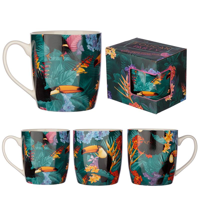 Collectable Porcelain Mug Tropical Toucan Design