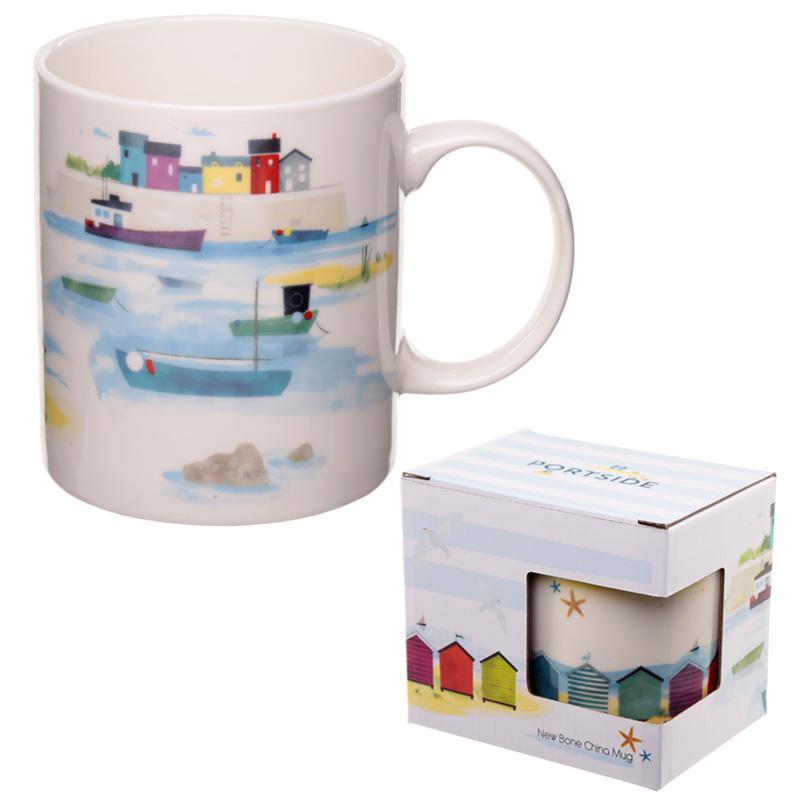 Porcelain Mug Seaside and Beach Portside Design