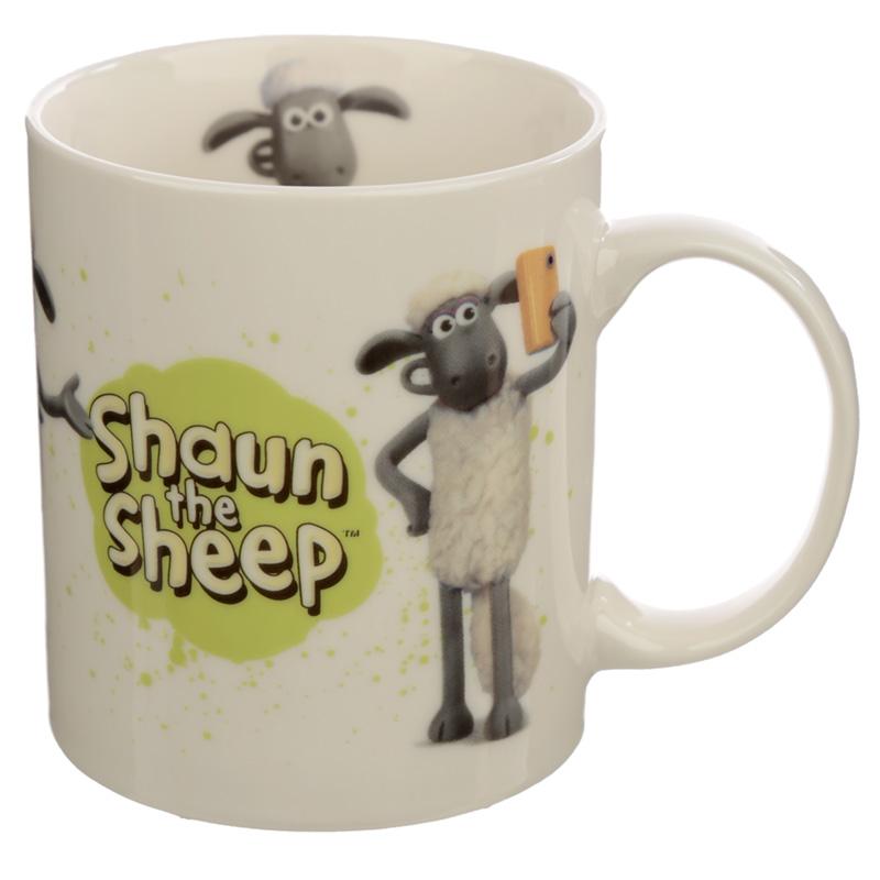 Collectable Porcelain Mug Shaun the Sheep White