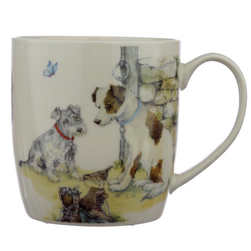 Collectable Porcelain Mug Jan Pashley Dog Design