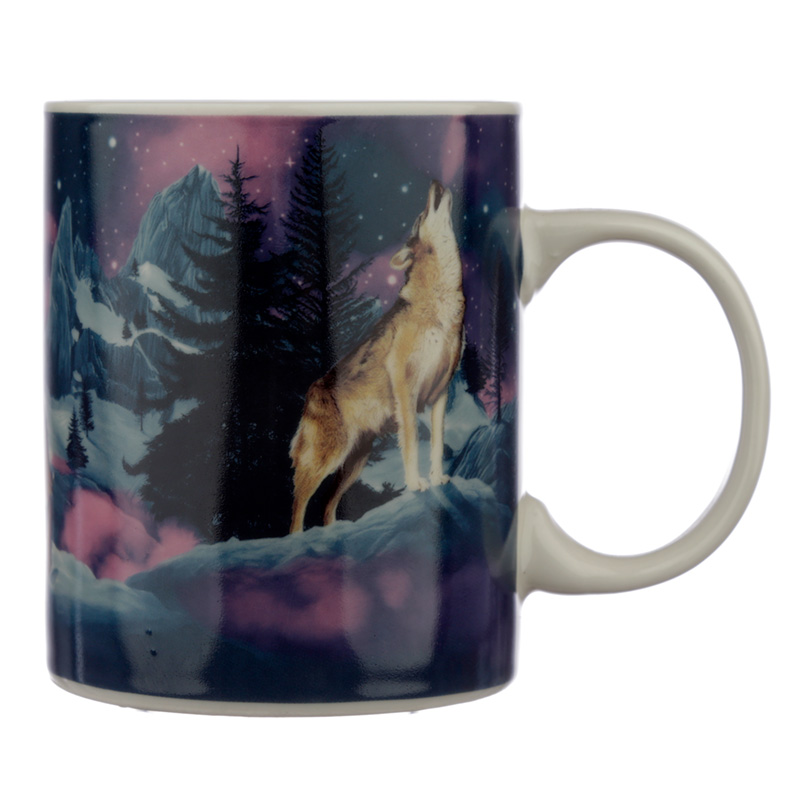 Collectable Porcelain Mug Protector of the North Wolf