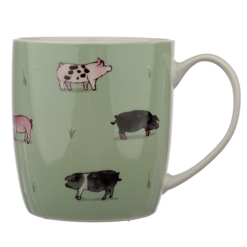 Collectable Porcelain Mug Willow Farm Pigs