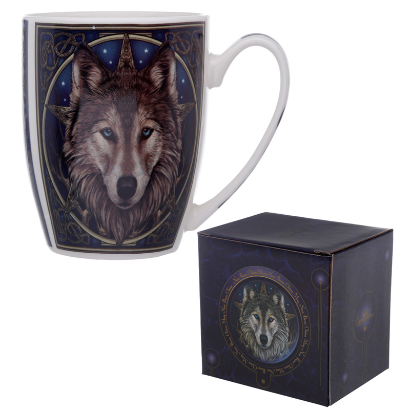 Fantasy Wolf Head Design Porcelain Mug
