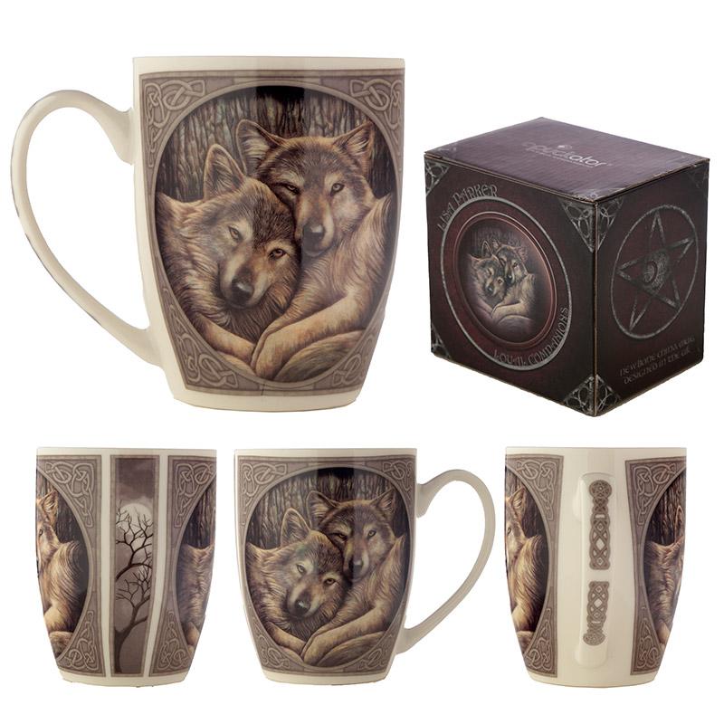 Wolves Loyal Companion Lisa Parker Designed Porcelain Mug