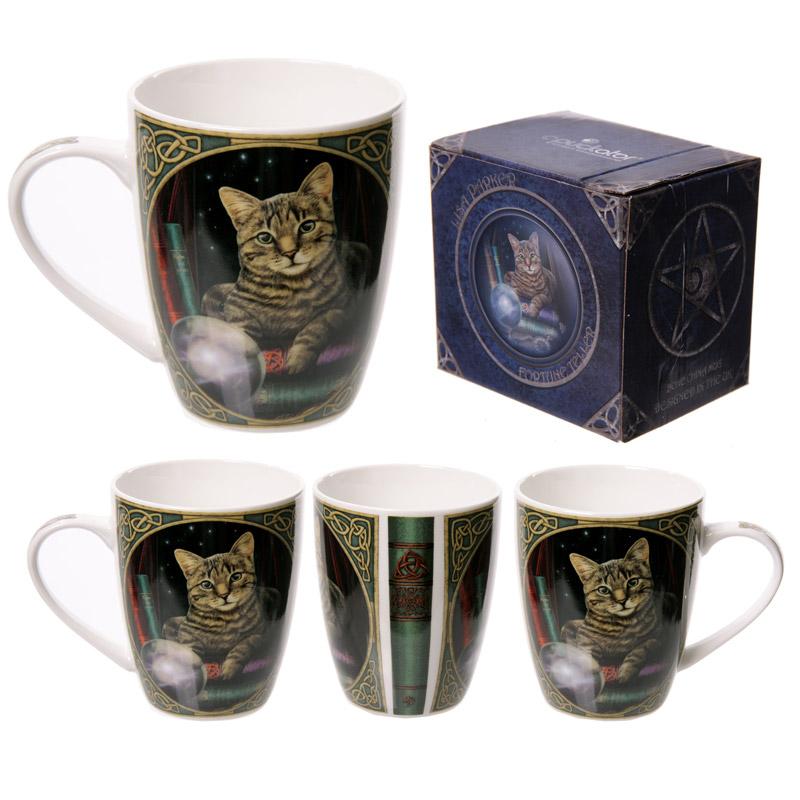 Cat Fortune Teller Lisa Parker Designed Porcelain Mug