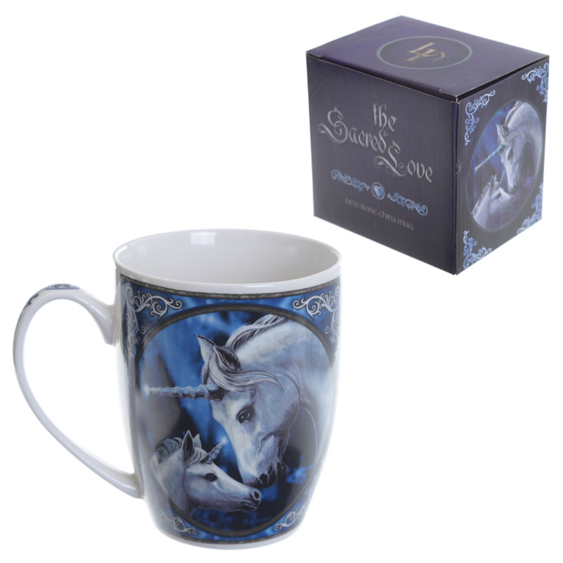 Fantasy Porcelain Mug Unicorn and Foal
