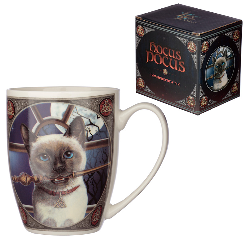 Lisa Parker Porcelain Mug Hocus Pocus Cat Design