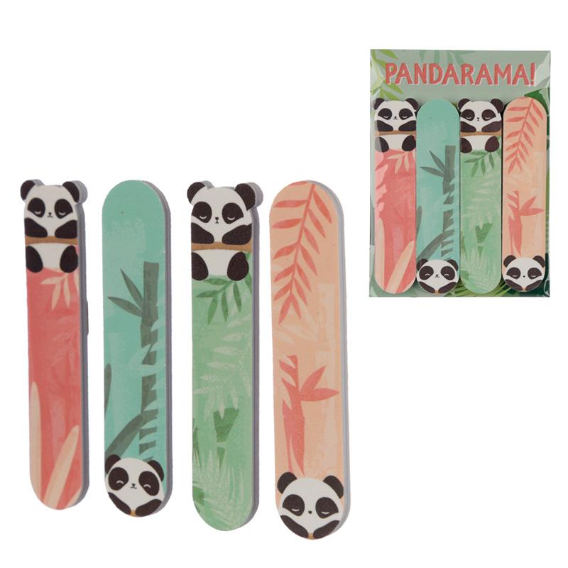 Fun Nail File Set of 4 Panda Design