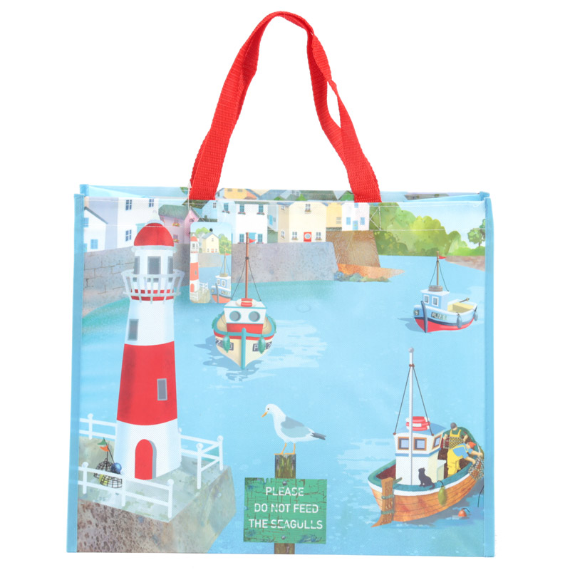 Fun Seaside Design Durable Reusable Shopping Bag