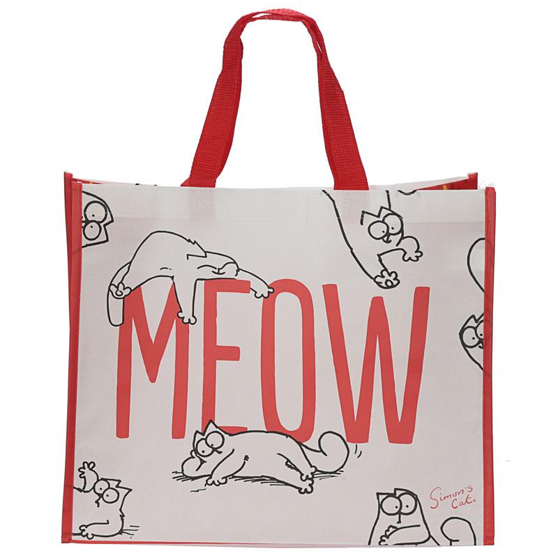 Simons Cat Meow Design Shopping Bag