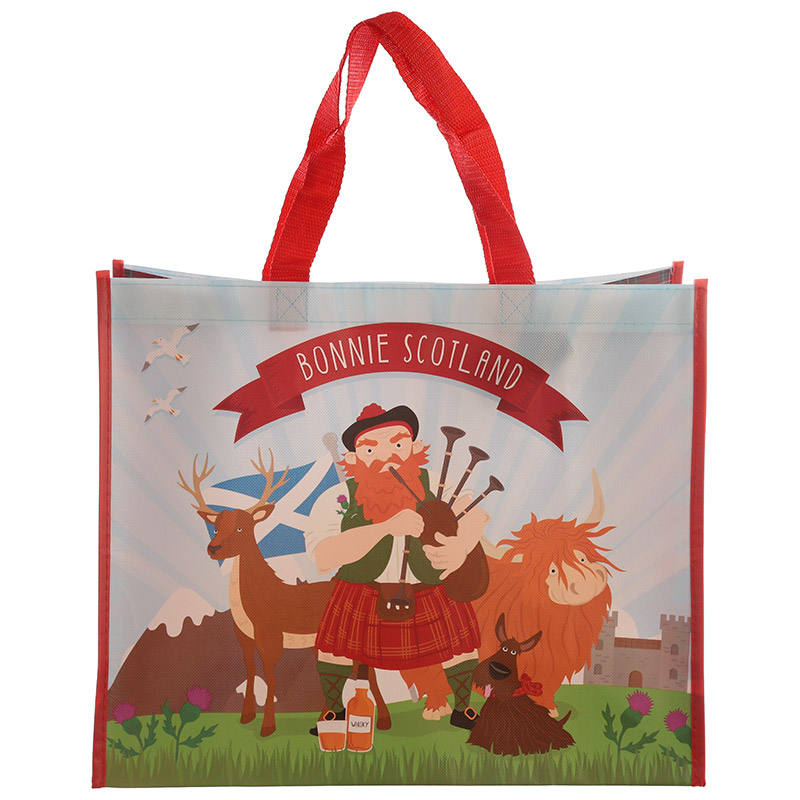 Scottish Piper Design Durable Reusable Shopping Bag