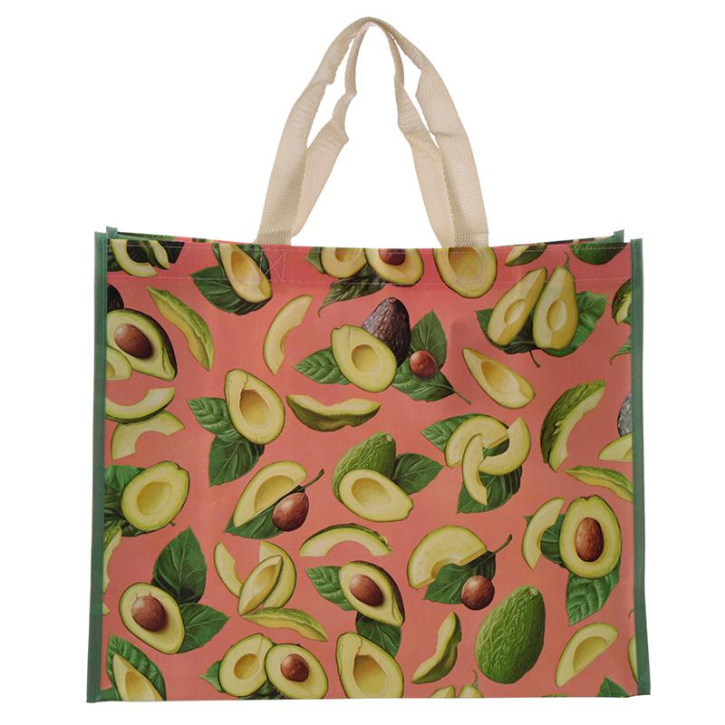 Fun Avocado Durable Reusable Shopping Bag