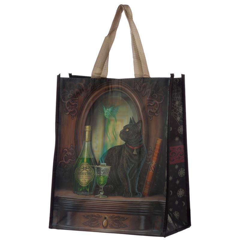 Absinthe Cat Lisa Parker Reusable Shopping Bag