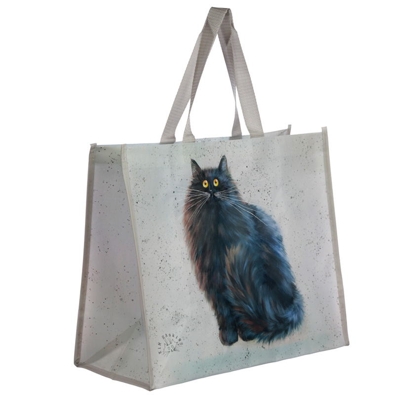 Black Cat Kim Haskins Reusable Shopping Bag
