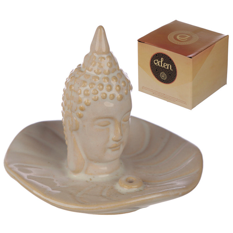 Eden Incense Burner Thai Buddha and Leaf