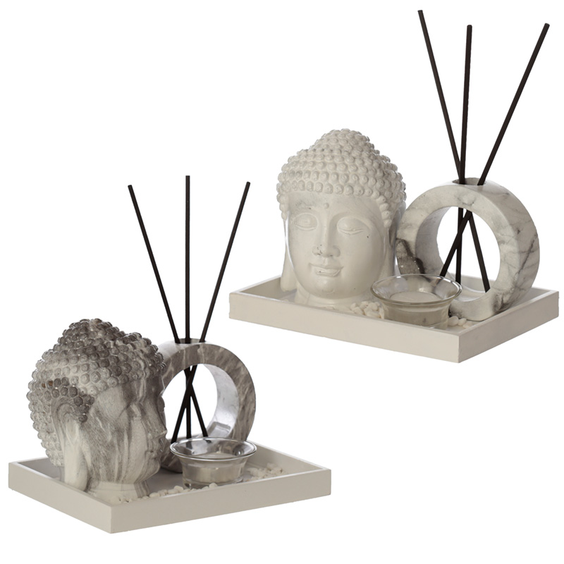 Eden Aroma Set Buddha Head Tea Light Holder  Reed Holder