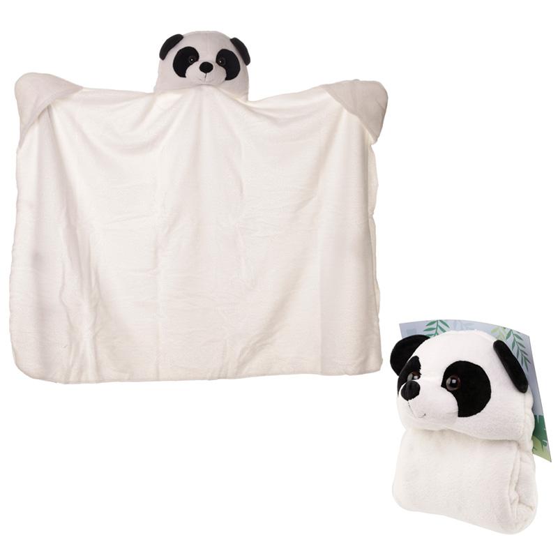 Plush Pandarama Wearable Blanket