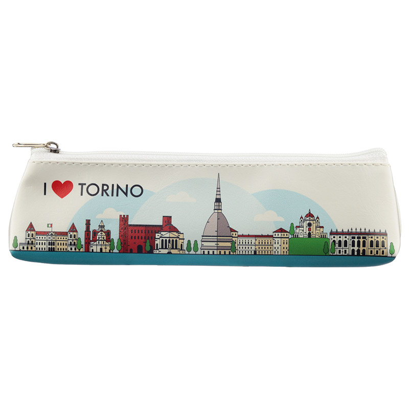 Fun Novelty Pencil Case I Heart Torino Design