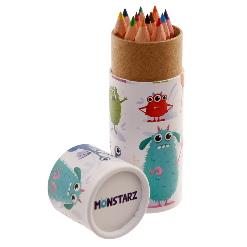Fun Kids Colouring Pencil Tube Monsters