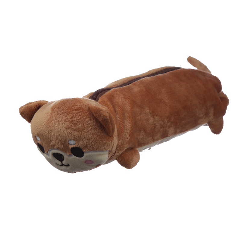 Fluffy Plush Pencil Case Shiba Inu Dog
