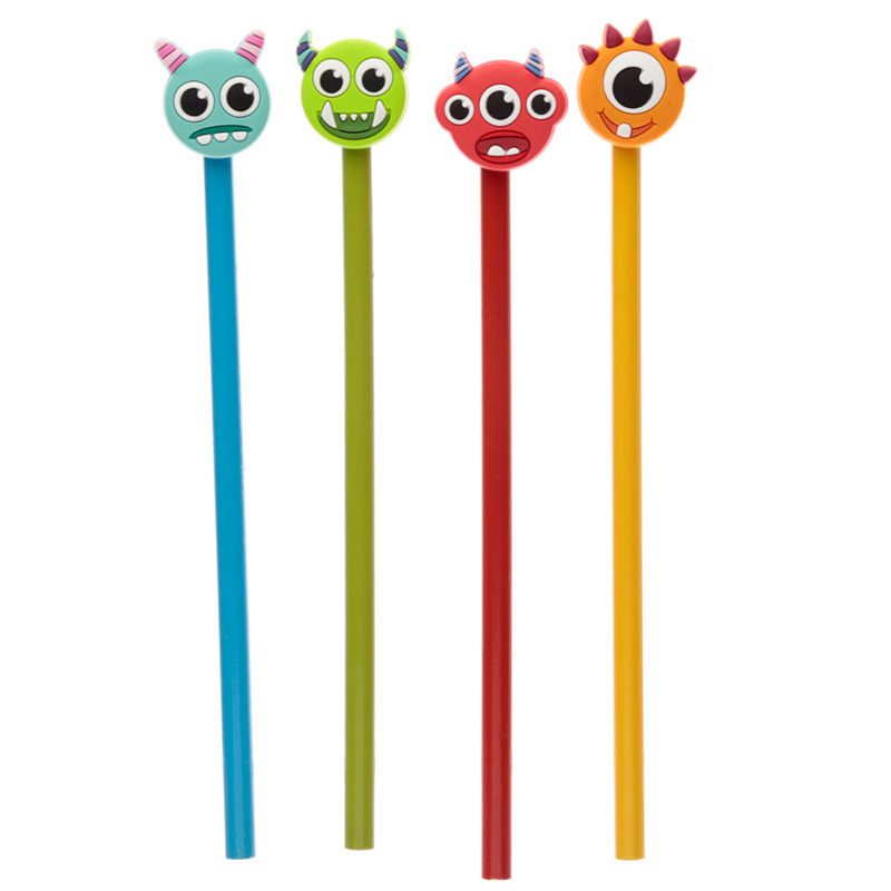 Fun Monster Monstarz Novelty Pencil with PVC Top