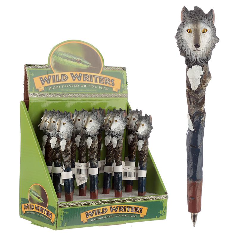 Funky Wolf Design Novelty Pen