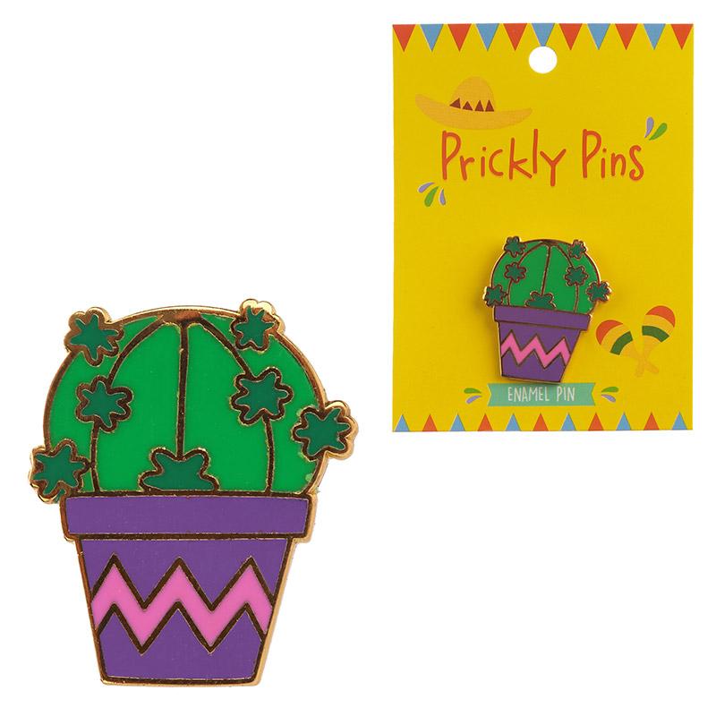 Fun Cactus Design Enamel Pin Badge