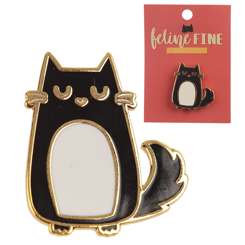 Cute Cat Design Enamel Pin Badge