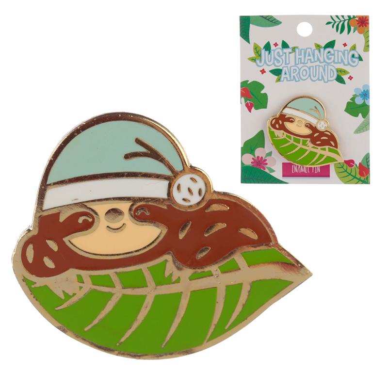 Novelty Sloth Design Enamel Pin Badge