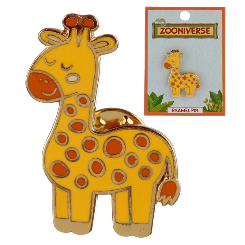 Novelty Giraffe Design Enamel Pin Badge