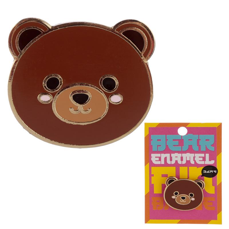 Novelty Cute Bear Design Enamel Pin Badge