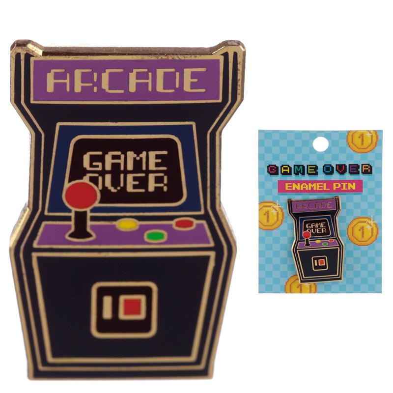 Novelty Arcade Game Design Enamel Pin Badge