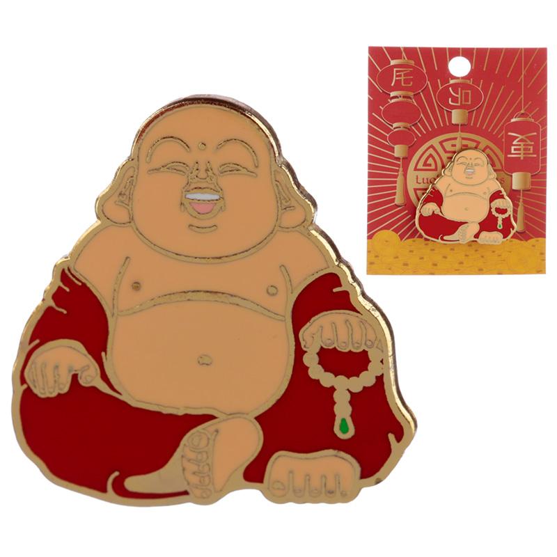 Novelty Lucky Buddha Design Enamel Pin Badge