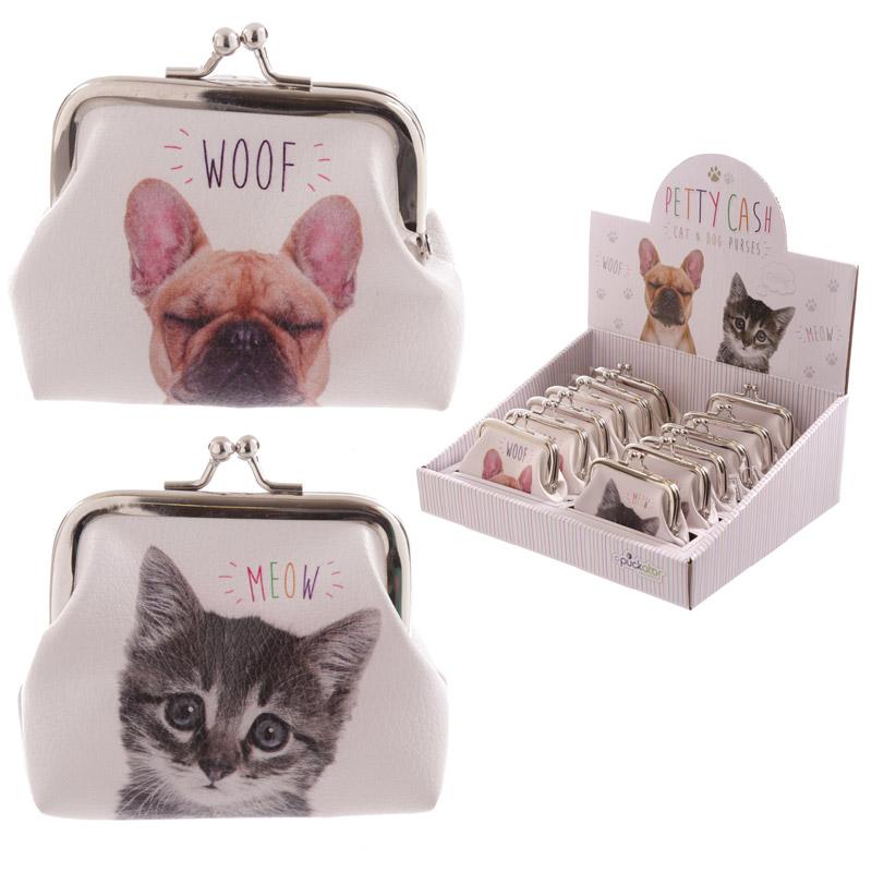 Fun Mini Coin Purse Cat and Dog