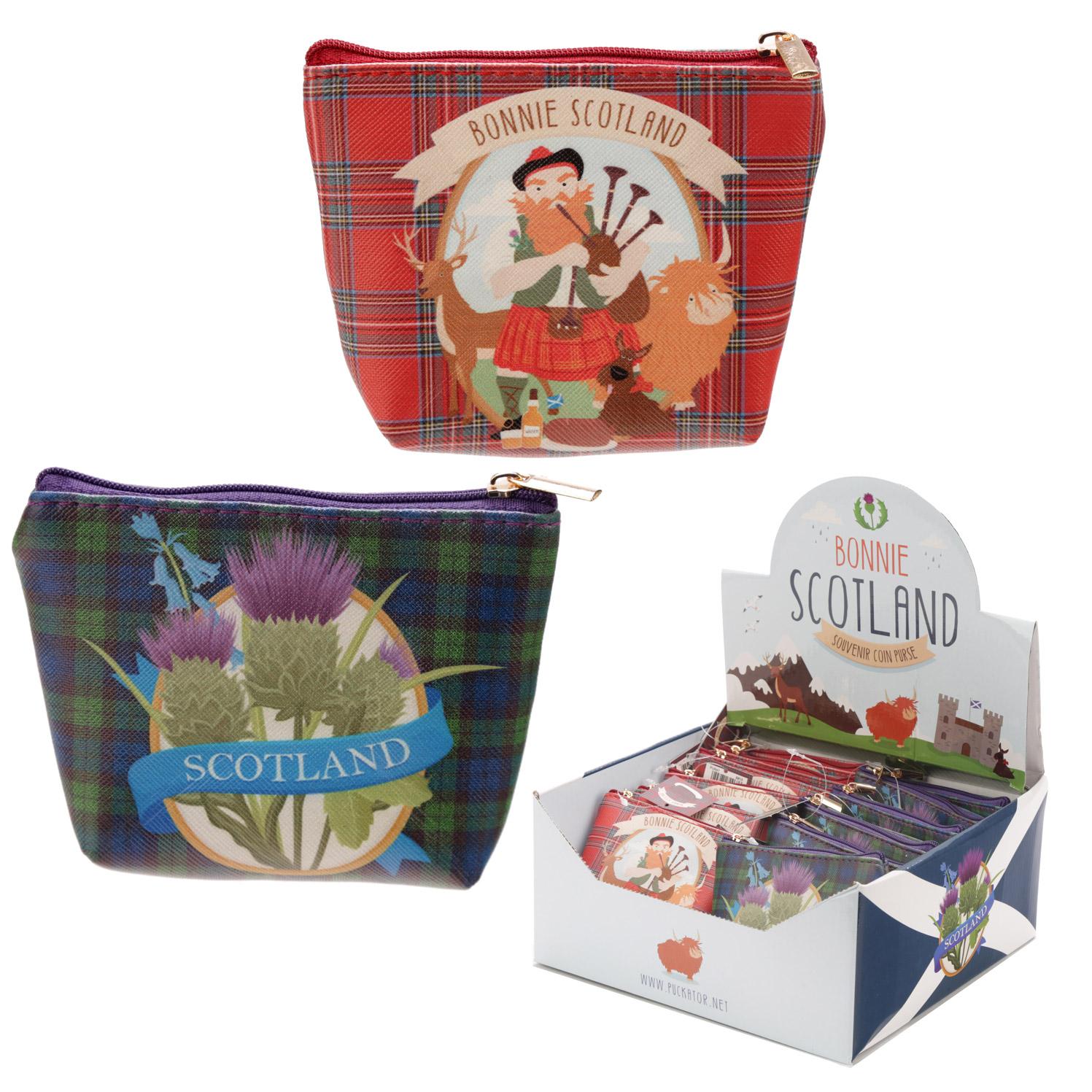 Handy PVC Make Up Bag Purse Bonnie Scotland
