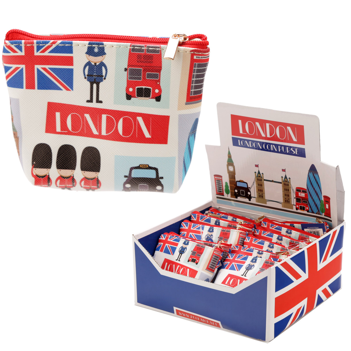 Handy PVC Make Up Bag Purse London Icons