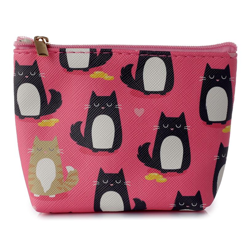 Handy PVC Make Up Bag Purse Feline Fine Cat Design