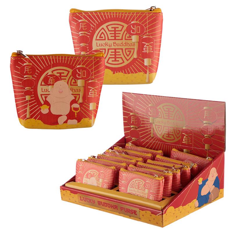 Handy PVC Purse Lucky Buddha